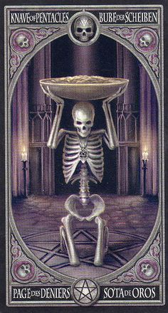 Anne Stokes Gothic Tarot- Knave of Pentacles    https://www.facebook.com/78Whispers