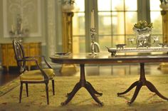 A Miniature Doll's House Dining Room. Very beautiful.