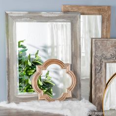 Whether you're going for urban farmhouse or modern loft, the right mirror can make your space.