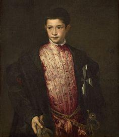 Portrait of Ranuccio Farnese by Titian around 1542 A.D.