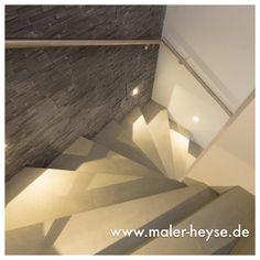 #Betonoptik Auf Einer Treppe Hergestellt.  Http://www.maler Heyse.de/leistungen/moderne Oberflaechen/betonoptik.html