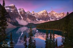 Valley of the Ten Peaks - Instructional Post Processing... -  Valley of the Ten Peaks - Instructional Post Processing VideosFacebook | Mailing List Taken last fall during my trip to the Canadian Rockies with my good friend Sean Bagshaw. We almost didnt visit Moraine Lake because its photographed so often but Id never been there and I wanted to see it for myself. The sunrise behind us was spectacular so much so that the reflected light from it illuminated the scene in a beautiful magenta…