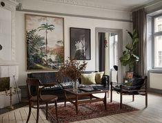 Living room scandinavian home decorating . Interior Design Inspiration, Home Interior Design, Room Inspiration, Interior And Exterior, Vintage Industrial Decor, Vintage Decor, Industrial Decorating, Industrial Bathroom, Bedroom Vintage