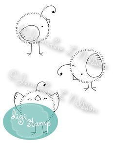 Digital Stamp - Little Chicks - digistamp