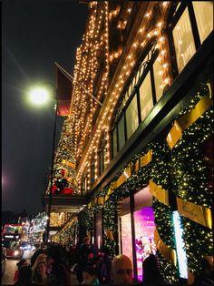 Harrod's London Harrods Christmas, London Christmas, Christmas Shopping, English Characters, Times Square, Seasons, Travel, Viajes, Christmas In London