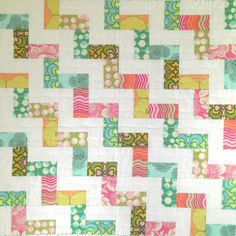 Baby Quilt Blanket Quiltsy Newborn Baby Gift by KarenGriskaQuilts,