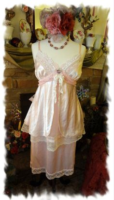 Mori Girl Summer Dress Altered Couture by BerthaLouiseDesigns, $89.95