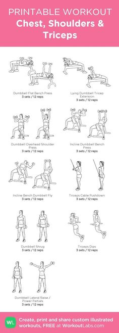 Upper Body Chest, Shoulders, and Triceps Workout | Posted by NewHowToLoseBellyFat.com