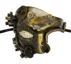 Steampunk Phantom Half Face Gold Masquerade Mask Prom Party Venetian Mask