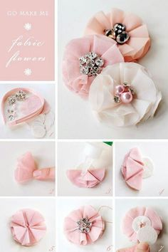 Fabric flowers. Might be easy enough.