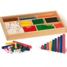 Bunte Rechenstäbchen aus Holz |Holzspielzeugkauf.de Was, Ice Cube Trays, Bunt, Toy Chest, Storage Chest, Home Decor, Wooden Toys For Kids, Games For Children, Decoration Home