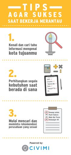5 Tips sukses merantau ke negeri orang (Infographic)