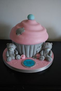 Me to you bear giant cupcake | Flickr – Compartilhamento de fotos!