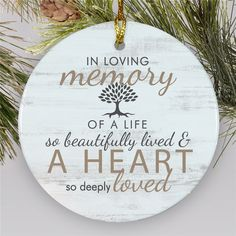 Memorial Gifts and sympathy gifts in remembrance show you care & want to honor loved ones. Shop personalized gifts in memory of people close to you to honor someone that's passed. Memorial Ornaments, Diy Christmas Ornaments, Ornaments Ideas, Christmas Decor, Memory Crafts, In Memory Gifts, Personalized Memorial Gifts, Memory Tree, Bereavement Gift