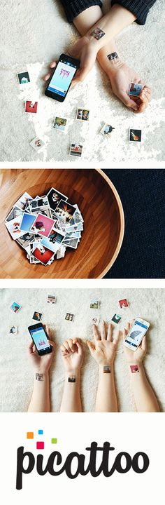 Fun temp. tattoos made from your Instagram photos!