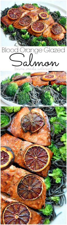 This salmon recipe is so easy to make and everyone in your family will love it. This easy salmon recipe is made with a sweet and salty blood orange glaze for a light, fresh fish dinner. Serve it with some noodles and broccoli and you have a healthy dinner recipe. @samsclub @hlmsmag #SamsClubMag #ad