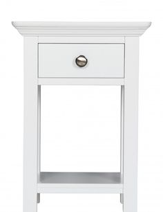 Small narrow bedside table - the easiest design decision in a small studio.