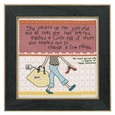 Packed Up Her Potential - Cross Stitch, Needlepoint, Embroidery Kits – Tools and Supplies