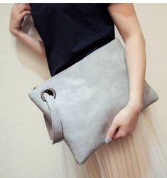 2016 women's trend of fashion girl handbag pu leather simple envelope bag clutch handbag colorful y-5698