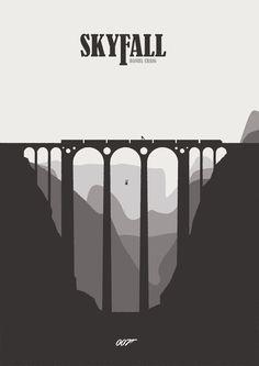 Skyfall - minimal poster by Mads Hindhede Svanegaard
