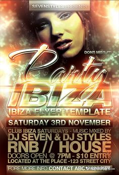 Cool Sevenstyles Ibiza Flyer PSD Template GraphixShare photo