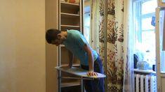 Встроенная гладильная доска в стенку шкафа.