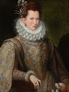 Portrait of a Lady of the Court - by Lavinia Fontana - 1590 (private collection)
