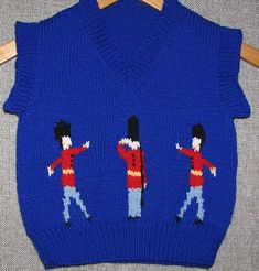 Free Knitting pattern Prince George Christmas Photo Pullover Guardsmen Sweater…