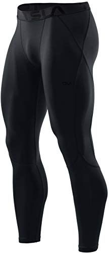 Workout Leggings Cool Dry Yoga Gym Clothes 2 or 3 Pack Mens UPF 50+ Compression Pants TSLA 1 UV//SPF Running Tights