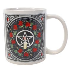 Wholesale Pentagram candle and roses mug - Something Different