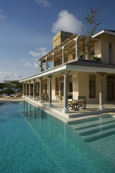 The Majlis luxury beach hotel on Manda Island in Kenya