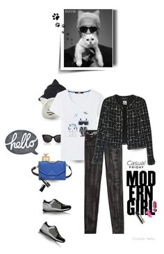"""""""Well, well, well .. look what finally decided to show up .. Hello Friday !"""" by blonde-bedu ❤ liked on Polyvore featuring Karl Lagerfeld, Lagerfeld, Chanel and Lilipinso"""