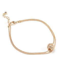 Another great find on #zulily! Goldtone & Crystal Ball Anklet #zulilyfinds