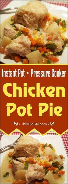 Pressure Cooker Chicken Pot Pie (Dumplings Really)