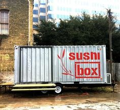 mobile shipping container architecture - Sushi Box. container architecture cargotecture Container house.