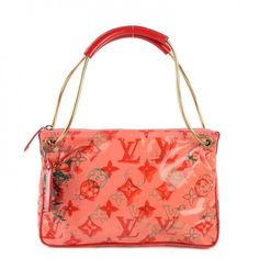"""This is an authentic LOUIS VUITTON Richard Prince Bonbon Pochette in Rose LE. This is a limited edition collaboration creation between Louis Vuitton and artist Richard Prince of which only 100 of these charming bags were produced from the """"Big City After Dark Collection."""