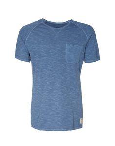 TOM TAILOR DENIM T-Shirt mit Brusttasche blau