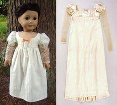 """""""Buttercream"""" 1815 Regency Replica Dress for American Girl Dolls - by Morgan May @ Stardust Dolls - http://www.stardustdolls.com"""