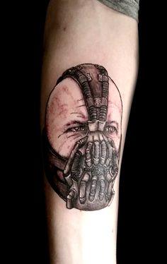 Bane from Batman -  the dark knight rises - tom hardy tattoo