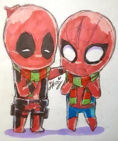 Spiderman, Spideypool, Quick Sketch, Art Blog, My Drawings, Deadpool, Photos, Marvel, Superhero
