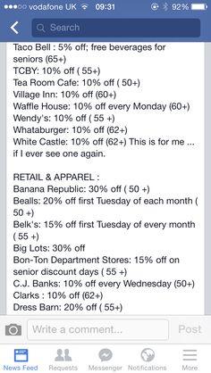 Discounts florida