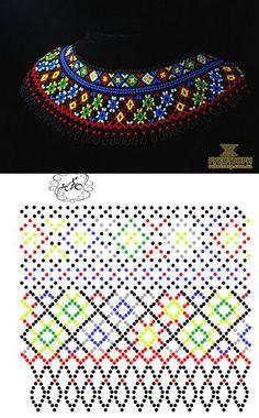 Fotos de Natali Jovalko Beading Patterns Free, Beading Tutorials, Crochet Patterns, Diy Necklace Patterns, Beaded Jewelry Patterns, Seed Bead Projects, Beaded Collar, Loom Beading, Bead Art