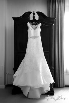 Wedding dress ready to be worn on the big day   Andre LaCour Photography
