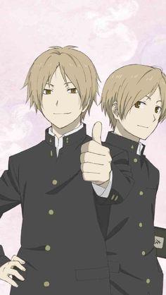 natsume as nyanko-sensei and our normal natsume ^^