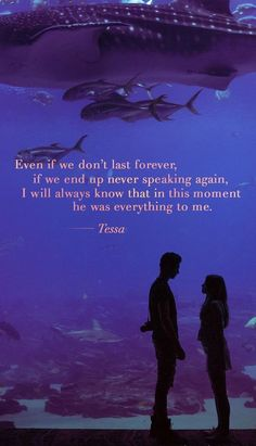 Incluso si no duramos para siempre, si no volvemos a hablar, siempre sabré que . Even if we don't last forever, if we don't talk again, I will always know that everything was for me right no After Libro 2, After Buch, Crush Movie, Serie Vampire, Romantic Movie Quotes, Quotes For Book Lovers, Favorite Book Quotes, After Movie, Hessa