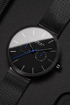 A PERFECT GIFT: This fashion watch fits great for every occasion be it a formal or casual outfit. #menswatches #blackwatches #watchesonline #bringwish