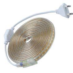 Multicolor 3014 Led Strip 220V  Waterproof With EU Power plug IP65 Flexible LED Tape Ribbon Outdoor 1M 2M 3M 5M 10M 15M 20M