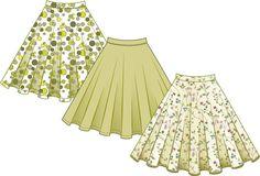 Very easy circle skirt printable pattern