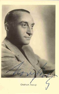 Oldrich Novy (1899-1983), legendary Czechoslovak film and theatre actor, director, composer, dramaturg and singer.