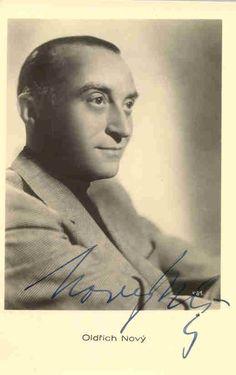 Oldrich Novy (1899-1983), legendary Czechoslovak film and theatre actor, director, composer, dramaturg and singer.